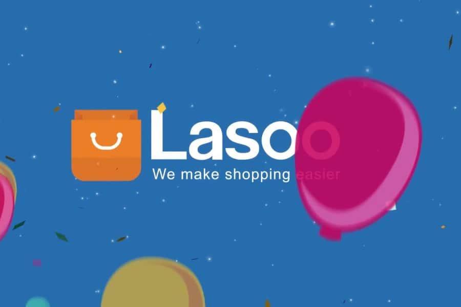 Lasoo Logo with balloons