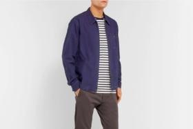 Navy shirt jacket