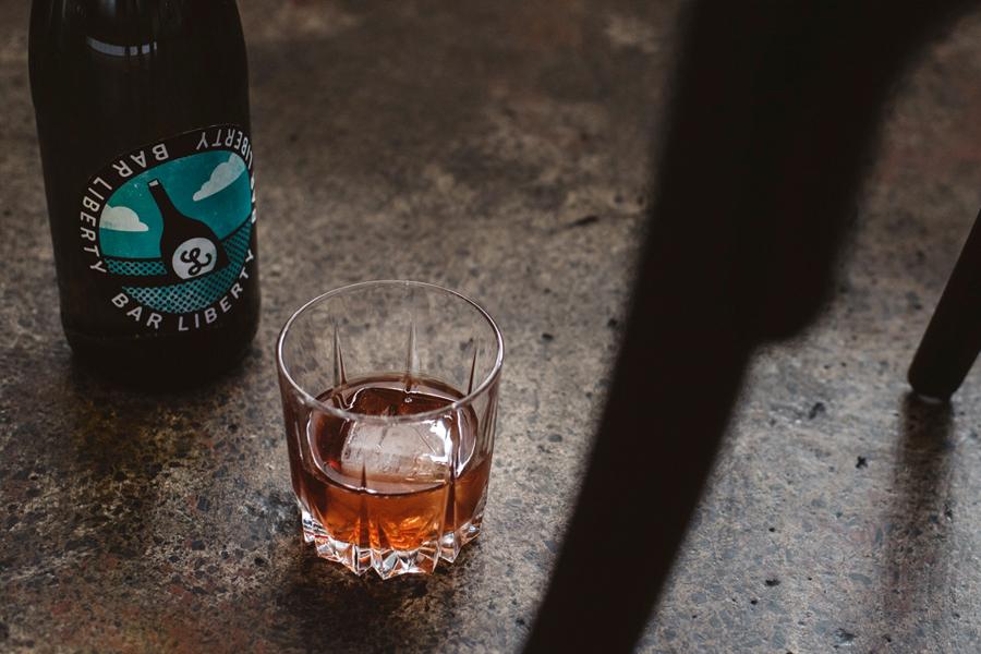 Bar liberty drink on floor