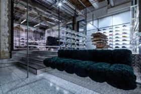 Interior of a shoes store