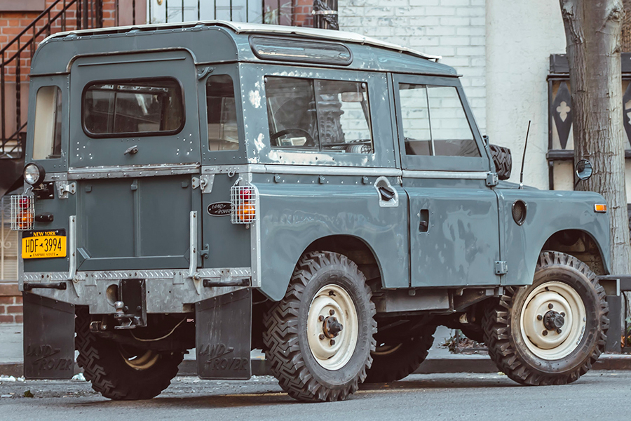 back view land rover series