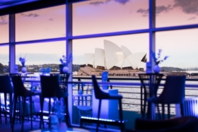 Tables with a view of Sydney Opera House