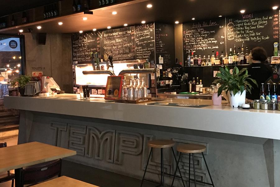 Temple brewing company bar