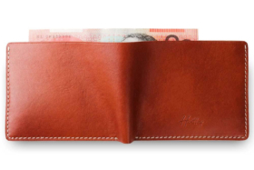 Hentley Leather wallet back