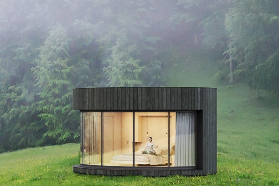 Lumipod Prefab Cabin Offers A Cocoon Oasis Man Of Many