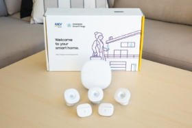 RACV Samsung SmartThings contents in front of box