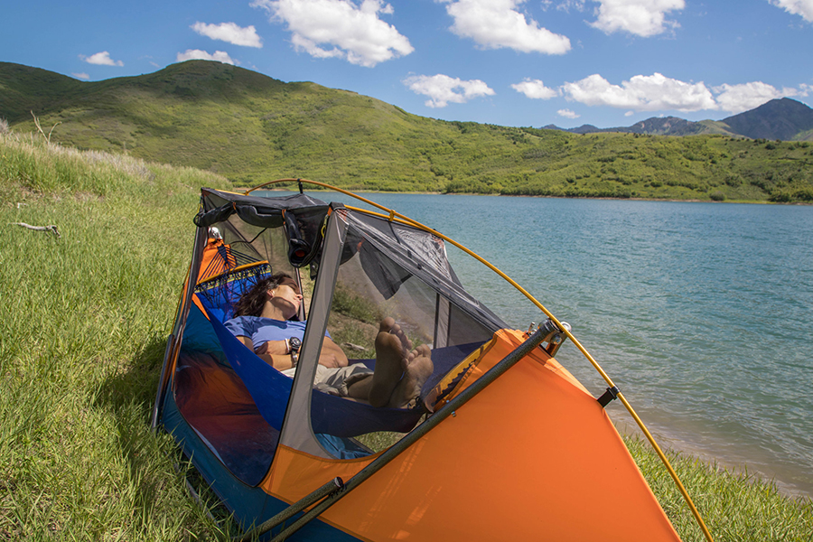 lake view with tammock hammock tent