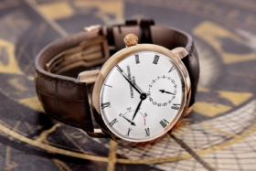 Frederique Constant Slimline Power Reserve Manufacture on its side