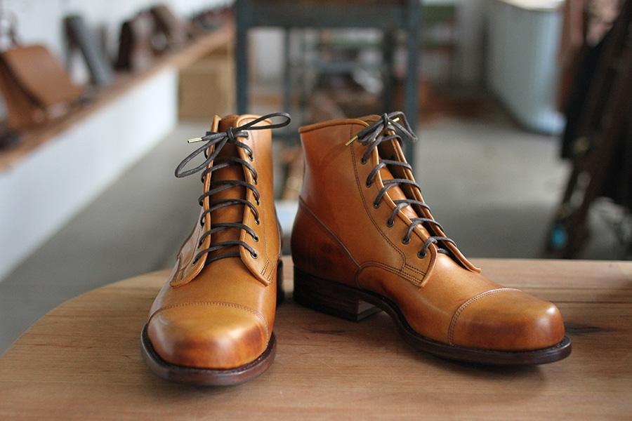 Wootten Tan coloured Gordon boots
