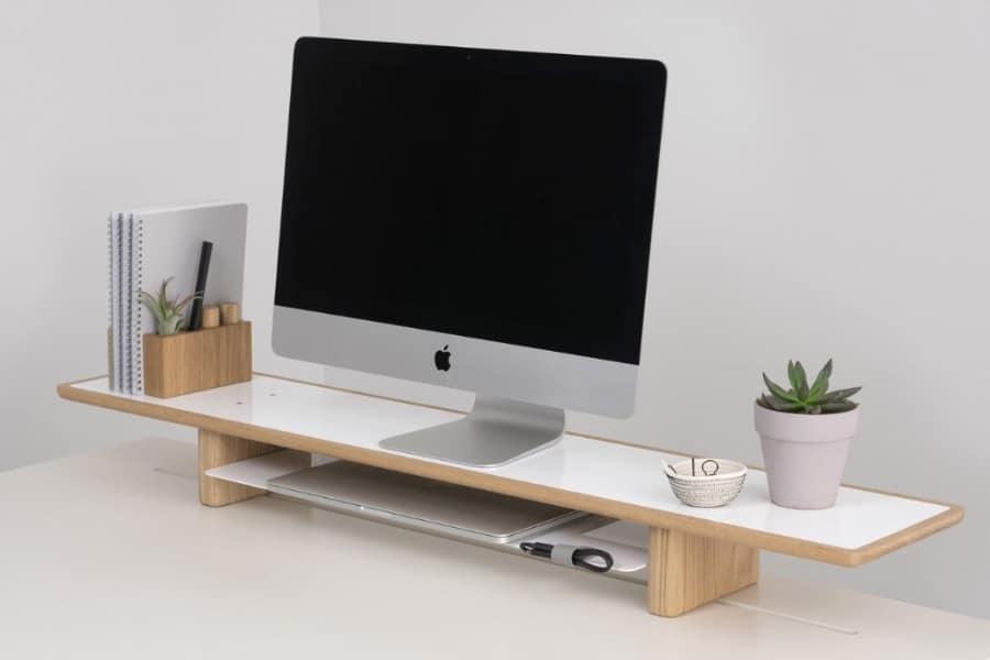 artifox raised monitor desk