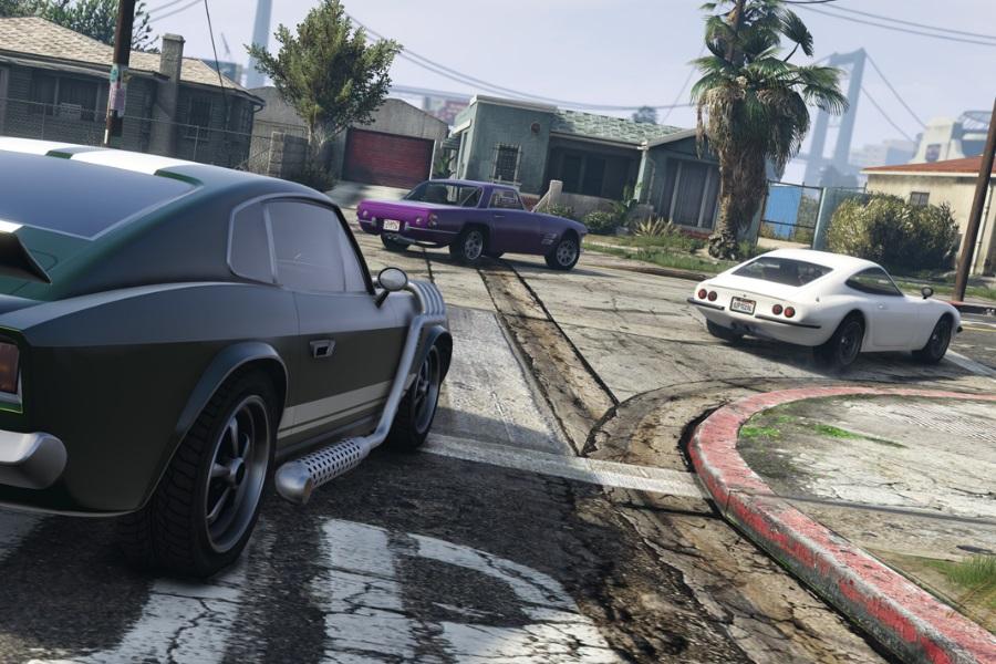 grand theft auto five car race
