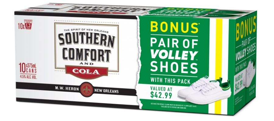 southern comfort cola cans