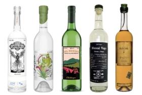 Assorted Mezcal brands