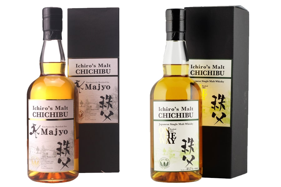 Chichibu whisky bottles