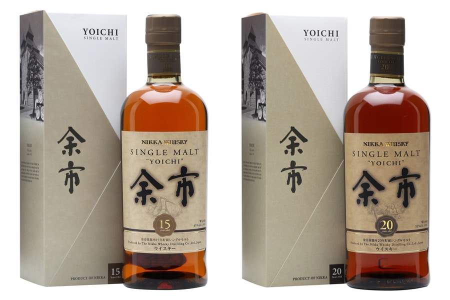 Yoichi whisky bottles