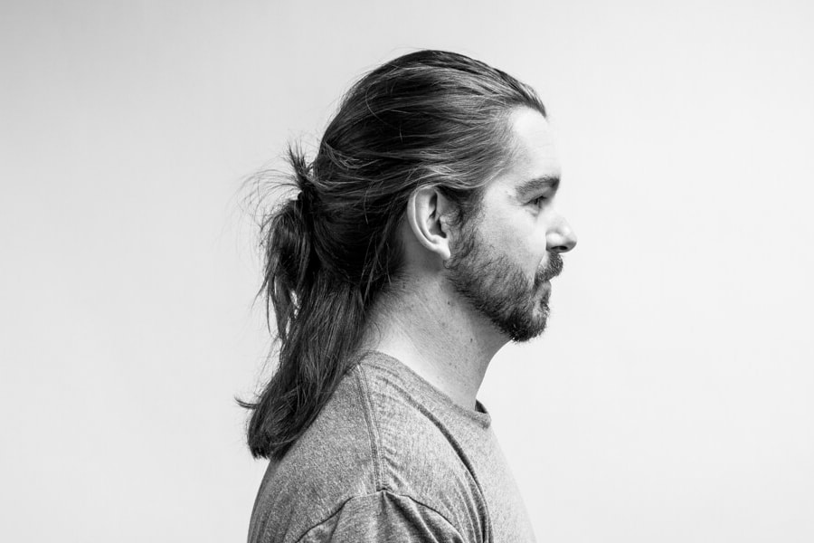 man with long hairstyle haircut