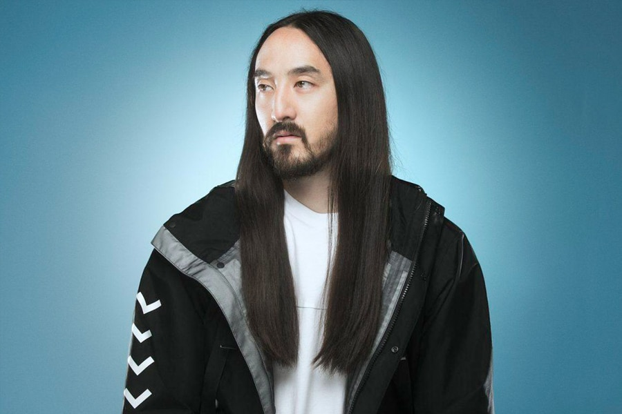 steve aoki with long haircut