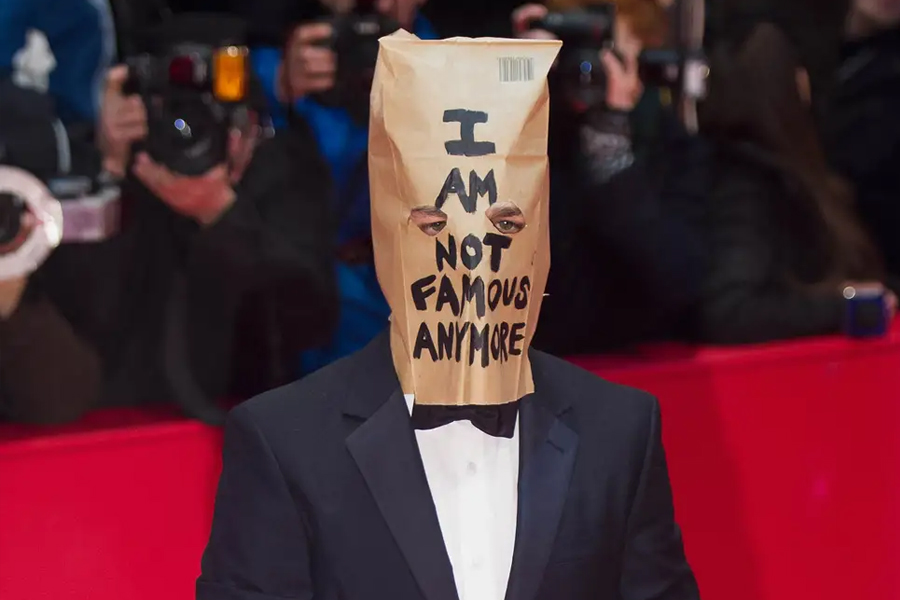 Shia Labeouf with Grocery Bag on head
