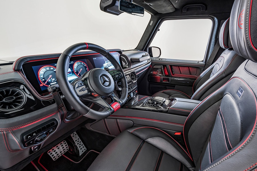 brabus 800 dashboard and steering wheel