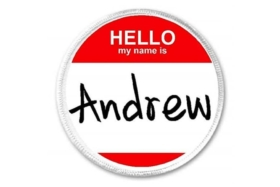 Hello My name is Andrew graphic
