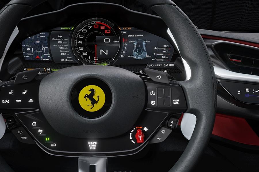 steering wheel ferrari sf90