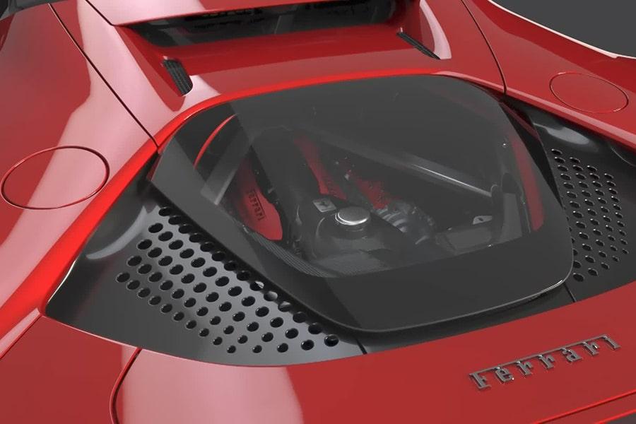 engine view ferrari sf90