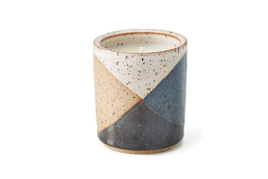 Square Trade Goods Roaring Pines East Clay Ceramic Candle