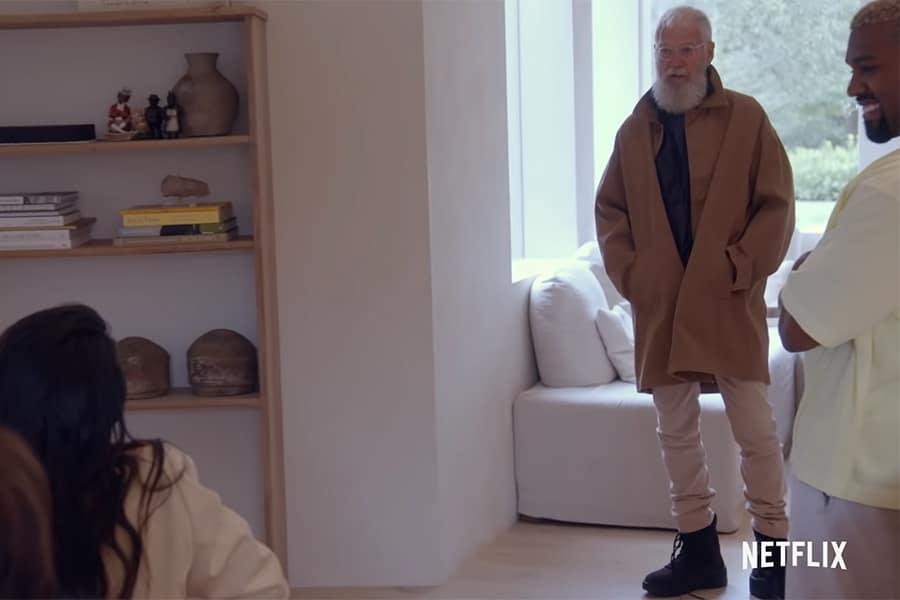 Kanye Decks David Letterman Out in Yeezy Apparel