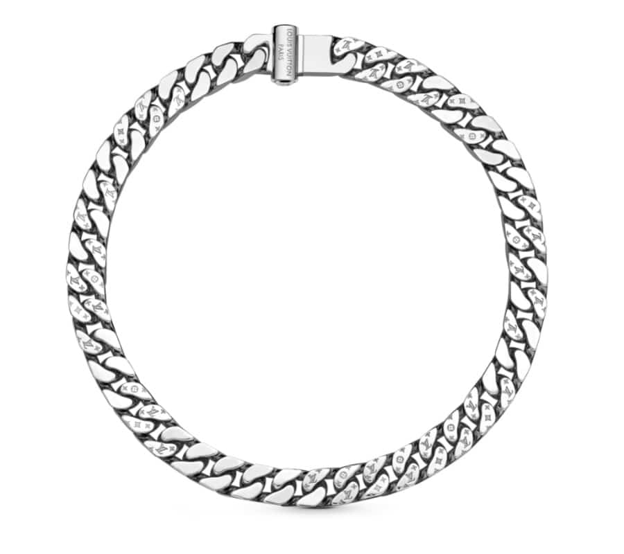 palladium-finished chain for men