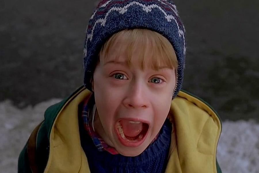 Macaulay Culkin Home Alone face