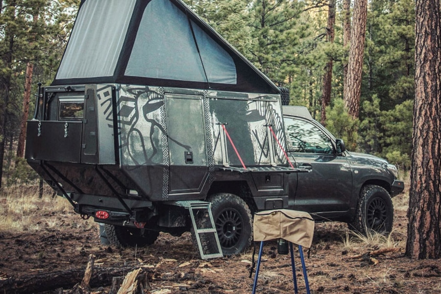 land cruiser with tent