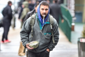 Shia Labeouf Holding lunch in new york