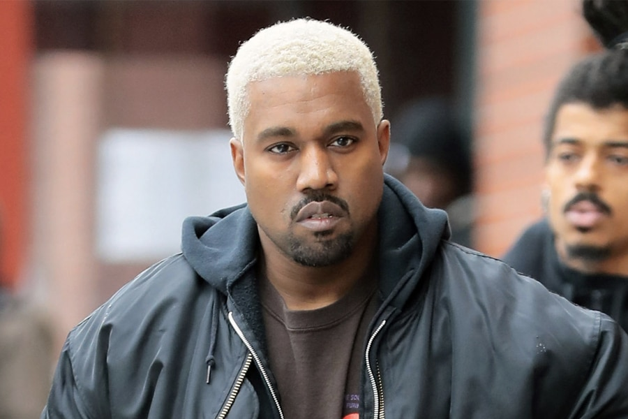 Kanye West with Blonde Hair