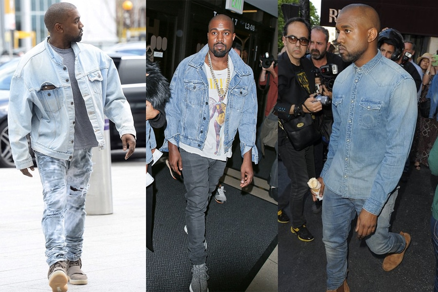 Kanye West in double denim