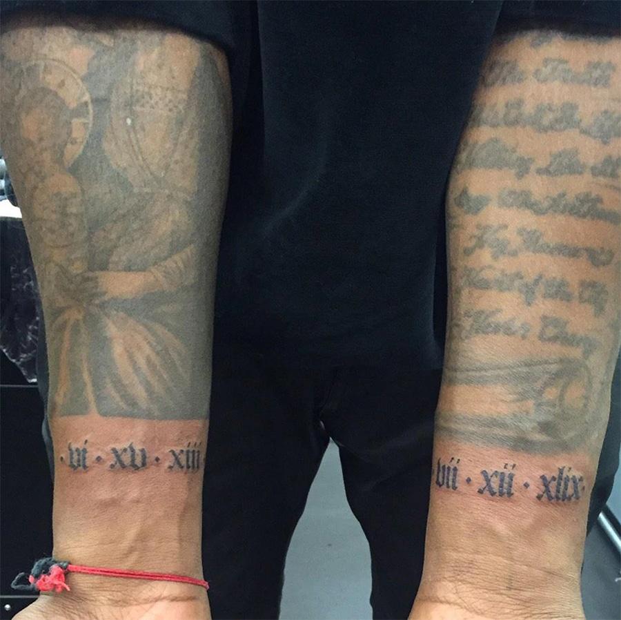 Kanye West Tattoos on arm