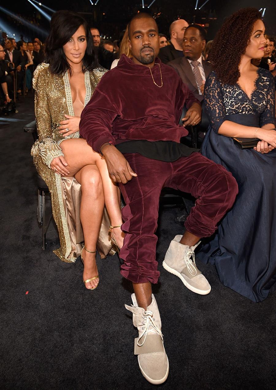 Kim and Kanye at award show