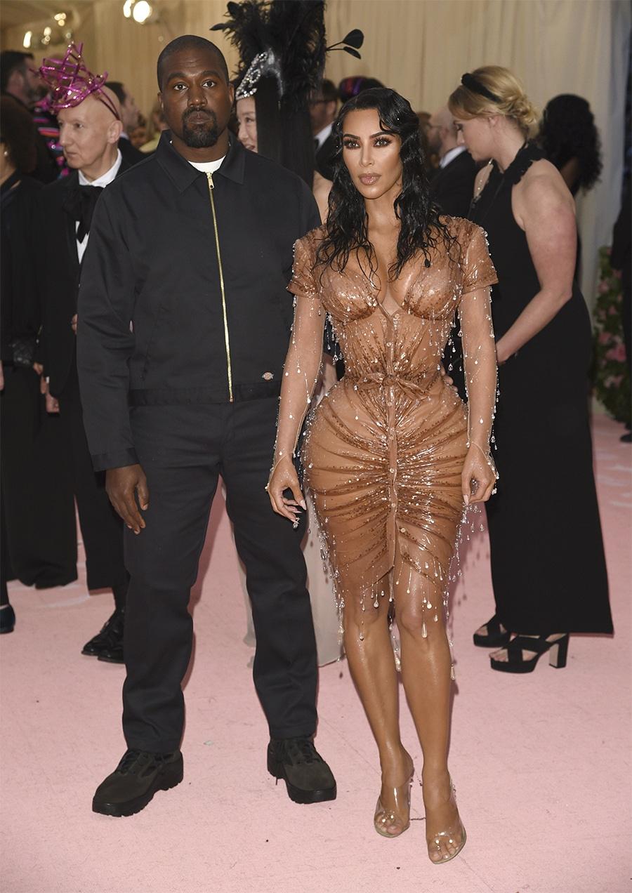 Kanye and Kim at the Met Gala Ball