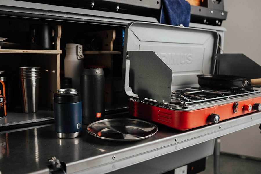 kitchen travel style with camper trailer