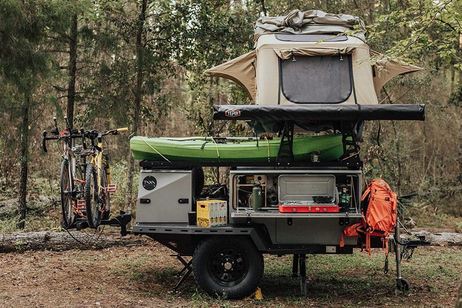 TAXA trailer ready to go for adventure