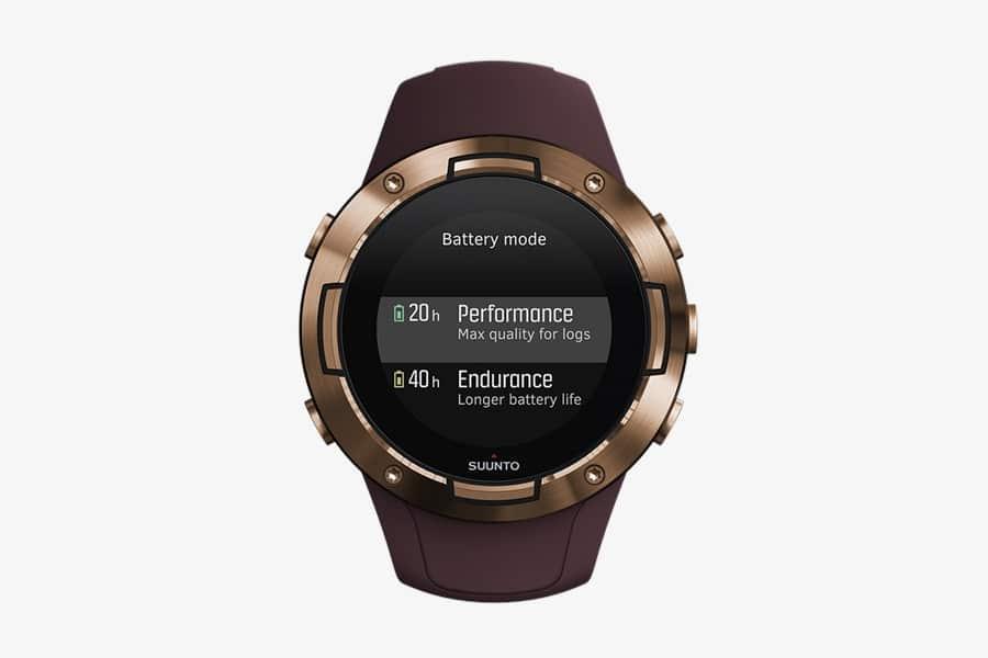Burgundy Suunto 5 GPS watch