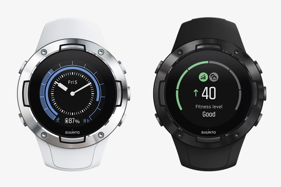 Suunto 5 GPS watch black and white