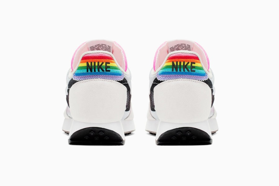 white pride sneakers