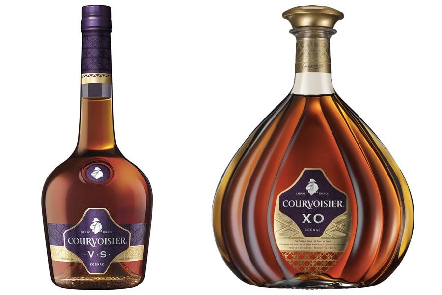 Courvoisier cognac bottles