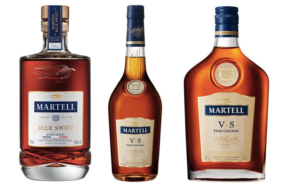 Martell cognac bottles
