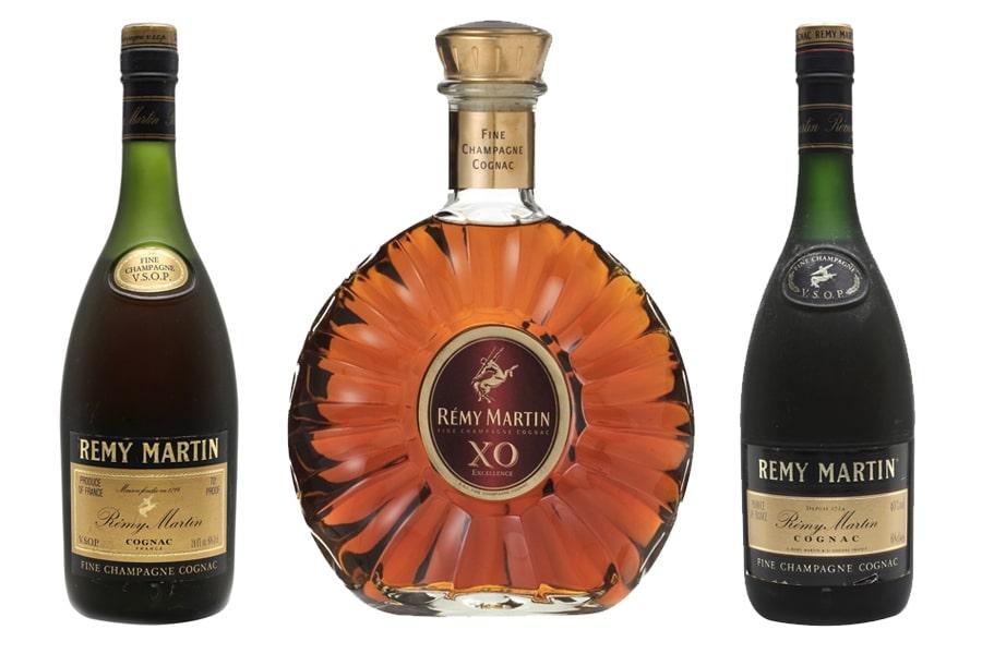 Remy Martin cognac Bottles