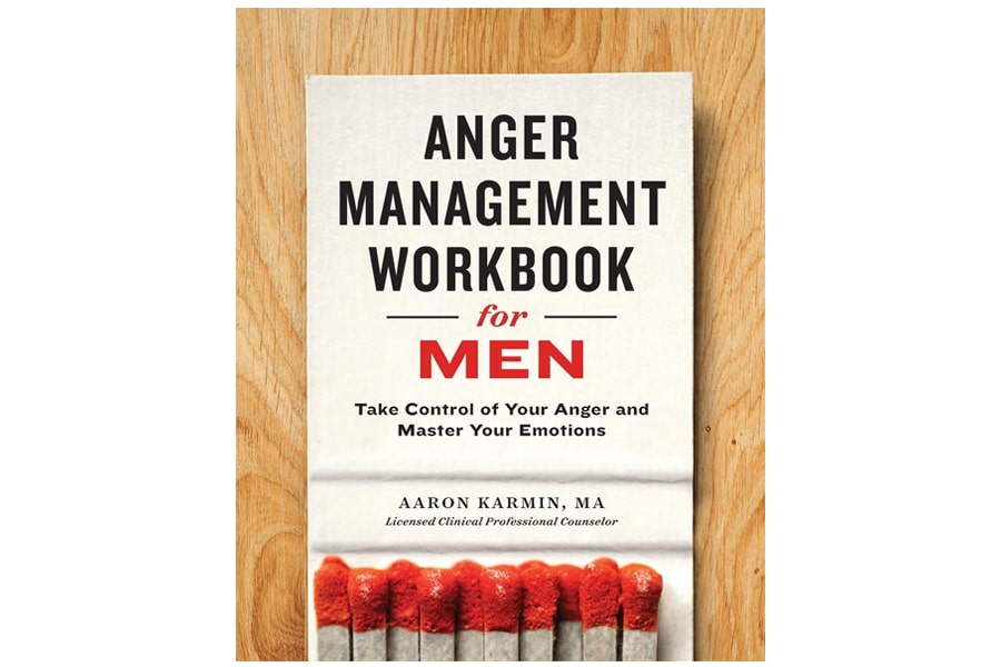 Anger management workbook for men book cover