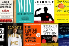 15 Self Help Books For Men to Add to Their Reading List - assorted book covers
