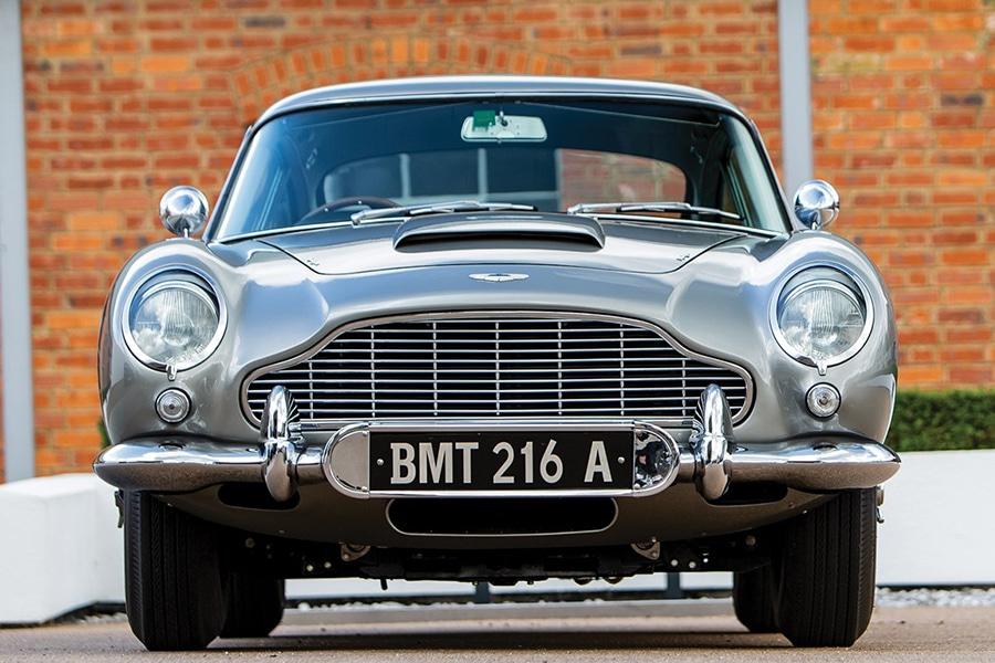 aston martin front view james bond car