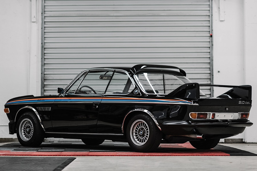 1972 BMW 3.0 CSL has a batmobile style trunk