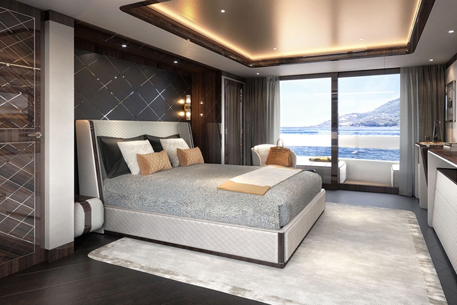 bentley's bedroom for a million dollar furnished yacht